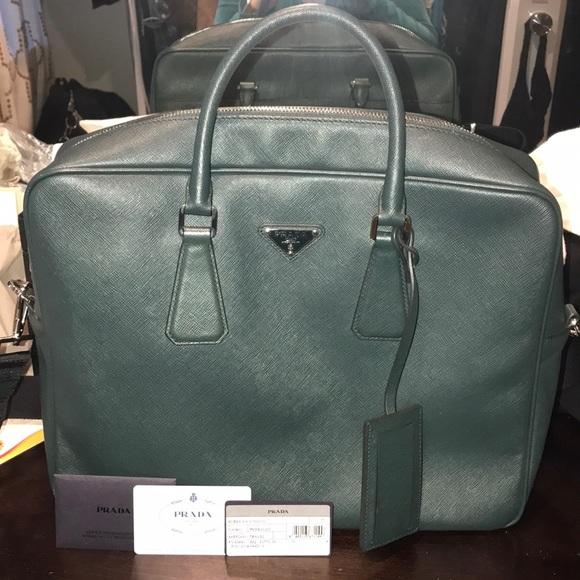 a623683266 Prada Bags   Saffiano Borsa Da Viaggio In Smeraldogreen   Poshmark